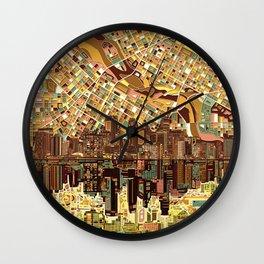 minneapolis city skyline Wall Clock