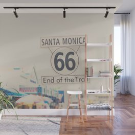 the end of route 66 ... Wall Mural