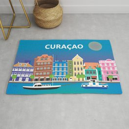 Curacao - Skyline Illustration by Loose Petals Rug