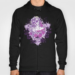 Sexy Woman zombie WITH Flower -  Carla - Vivid Violet - Lavender Hoody