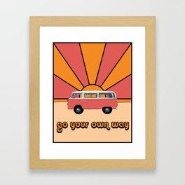 Go Your Own Way Van Framed Art Print