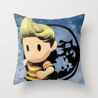 lucas david Throw Pillows featuring Lucas by ScoDeluxe