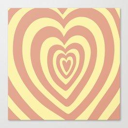 Make my heart thump -pink yellow Canvas Print