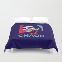 jurassic park Duvet Covers featuring 'Chaos' Ian Malcolm (Jurassic Park) by Tabner's