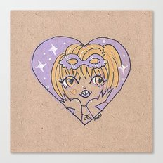 Little Heart Costume Time Canvas Print