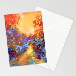 Late Afternoon Autumn Sun Stationery Cards