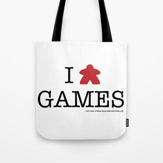 I Meeple Games Tote Bag
