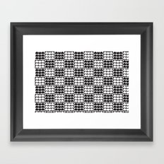 Hob Nob Black White Quarters Framed Art Print