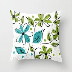flowers flowers Throw Pillow