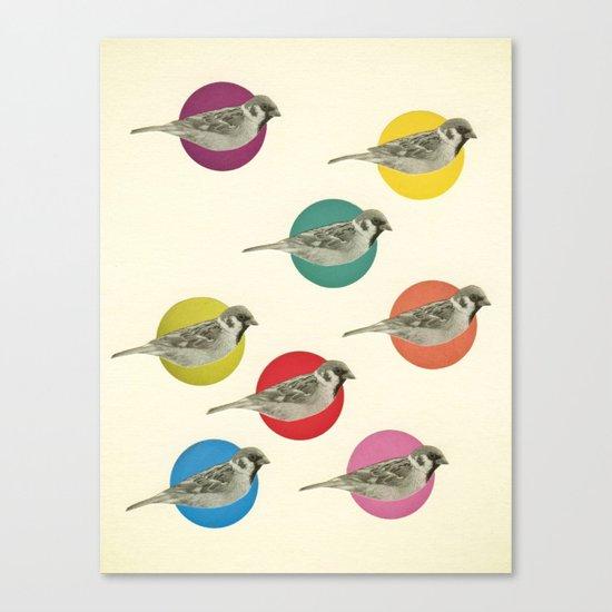 Gathering Sparrows Canvas Print