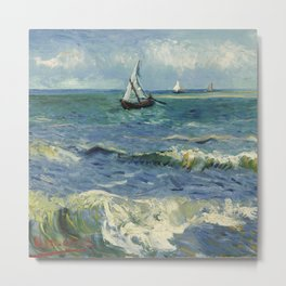 Seascape near Les Saintes-Maries-de-la-Mer Metal Print