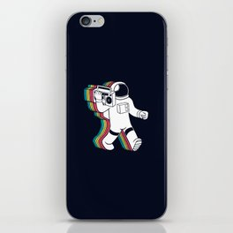 astronaut music iPhone Skin