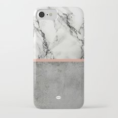 Marble Concrete fusion iPhone 7 Slim Case