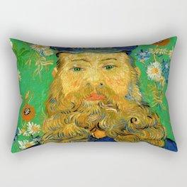 Vincent Van Gogh - Portrait of the Postman Joseph Roulin Rectangular Pillow