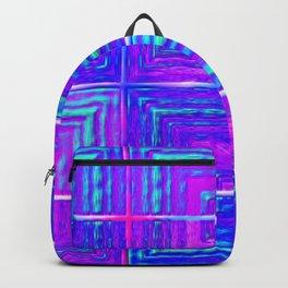 Checkered ultraviolet Backpack