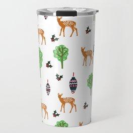 Xmas Deer Pattern Travel Mug