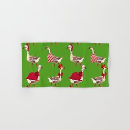 Christmas Goose Hand & Bath Towel