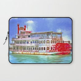 New Orleans Paddle Steamer Pop Art Laptop Sleeve