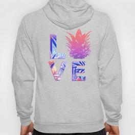 Love Pineapple Typography Tropical Boho Summer Vibes Hoody