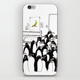penguins in the bedroom iPhone Skin