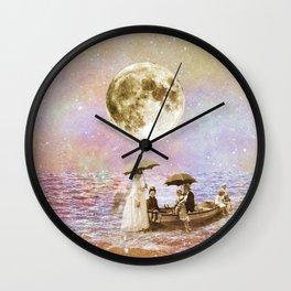 Moonlight ride Wall Clock