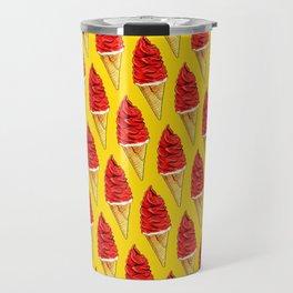 Ice Cream Pattern - Cherry Travel Mug