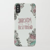 sarcasm iPhone & iPod Cases featuring Sarcasm by Sarah Brust