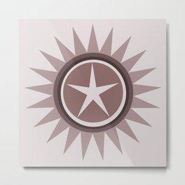 Star flower design Metal Print