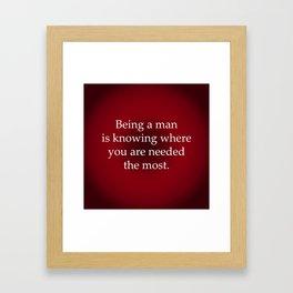 Being a Man Framed Art Print