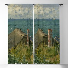 "Claude Monet ""La Cabane de Saint-Adresse"" Blackout Curtain"