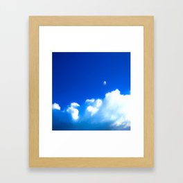 Starship breaking clouds Framed Art Print