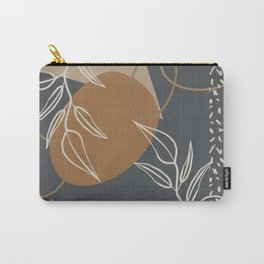 Neutral Meeting Point 2 in Gray-Blue and Tan Carry-All Pouch