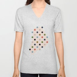 Simple Circles in Fantastic Output Unisex V-Neck