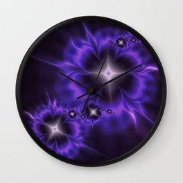 Fleur de Nuit Fractal Wall Clock