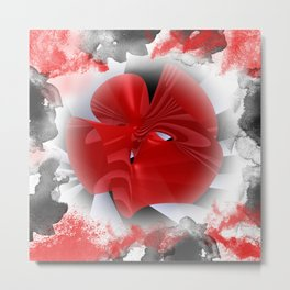 red polynomial flower -1- Metal Print