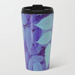blue fall leaves Travel Mug
