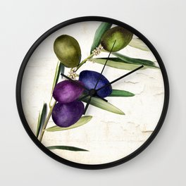 Olive Branch III Wall Clock