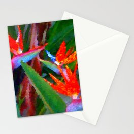 Bird of Paradise Family Abstract Stationery Cards