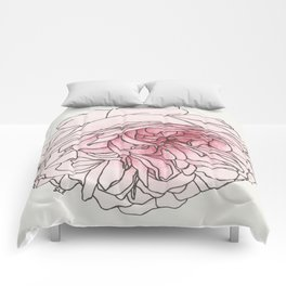 Pale Pink Rose Comforters