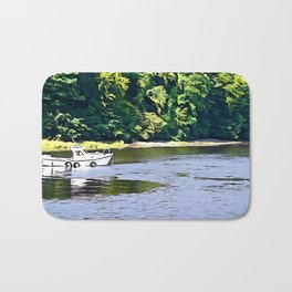 Little Boat on the River Eske Bath Mat