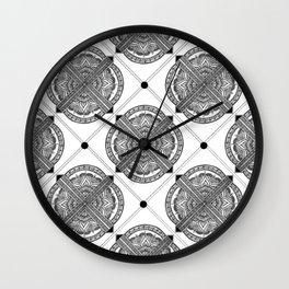 Mandala Tiles Wall Clock