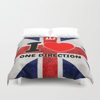 one direction Duvet Covers featuring ONE DIRECTION by Bilqis