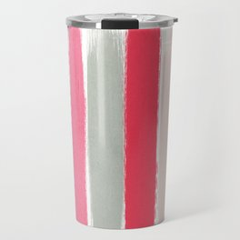 Minnie - Abstract Brushstroke pattern print in modern colors gold pink Travel Mug