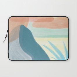 Desert Land // Mountains Sun Clouds Agave Plant Sand Simple Digital Acrylic Landscape Painting Laptop Sleeve