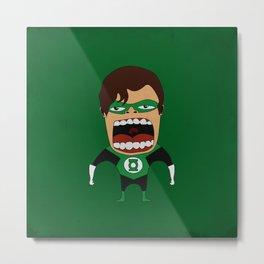 Screaming Green Lantern Metal Print