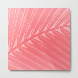 Hot Pink Palm Metal Print