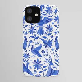 Mexican Otomí Design in Deep Blue iPhone Case