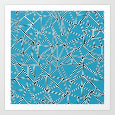 Shattered Ab Blue Art Print