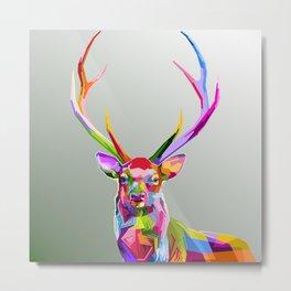 Colorful decoration of deer Metal Print