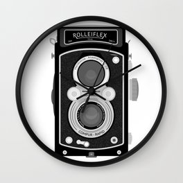 Rolliflex Graphical Print Wall Clock